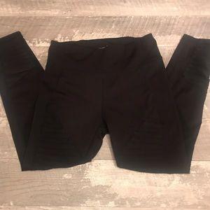 Nanette Lepore Black Moto Leggings Womens Size M